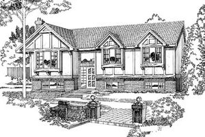 European Exterior - Front Elevation Plan #47-165