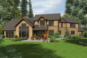 Craftsman Style House Plan - 3 Beds 2.5 Baths 2637 Sq/Ft Plan #48-647 Exterior - Rear Elevation