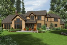 Dream House Plan - Craftsman Exterior - Rear Elevation Plan #48-647