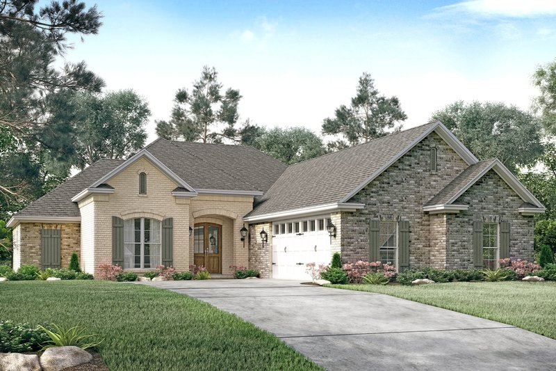 European Style House Plan - 3 Beds 2.5 Baths 1934 Sq/Ft Plan #430-123 Exterior - Front Elevation