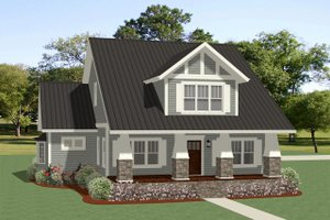 Bungalow Exterior - Front Elevation Plan #898-21