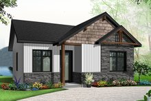 Architectural House Design - Cabin Exterior - Front Elevation Plan #23-2684