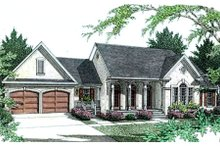 European Exterior - Front Elevation Plan #406-209