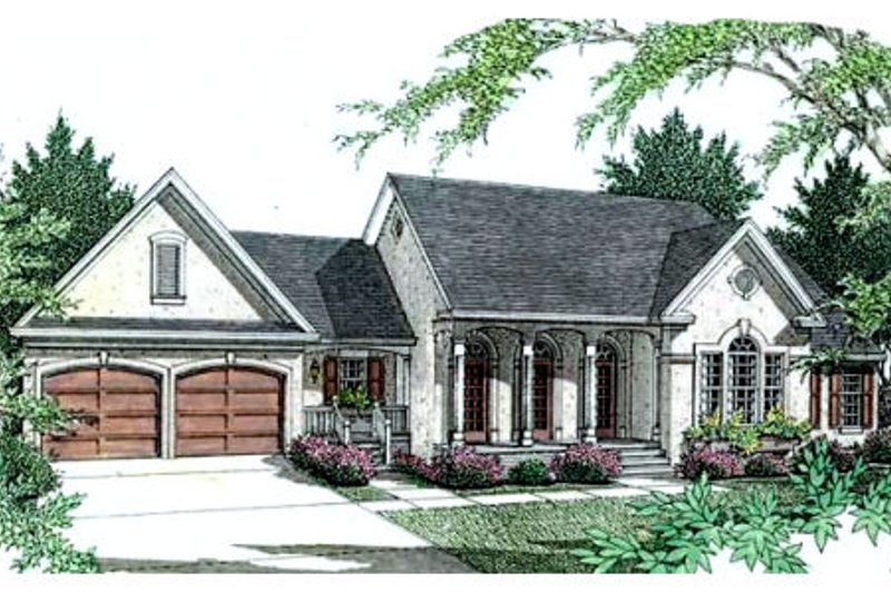 Architectural House Design - European Exterior - Front Elevation Plan #406-209