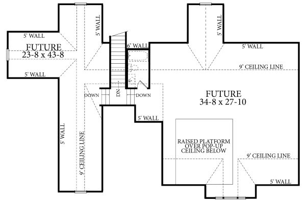 Cottage Floor Plan - Upper Floor Plan Plan #406-9656