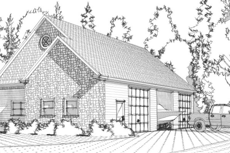 Traditional Exterior - Front Elevation Plan #63-333