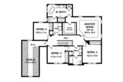 Traditional Style House Plan - 4 Beds 2.5 Baths 2665 Sq/Ft Plan #1010-158 Floor Plan - Upper Floor