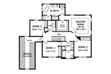 Traditional Floor Plan - Upper Floor Plan Plan #1010-158