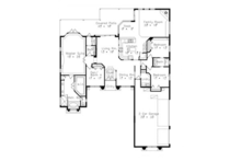 Mediterranean Floor Plan - Main Floor Plan Plan #417-807