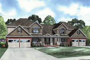 Dream House Plan - Traditional Exterior - Front Elevation Plan #17-2854