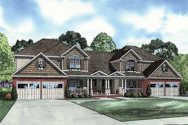 Traditional Exterior - Front Elevation Plan #17-2854 - Houseplans.com