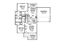 Traditional Floor Plan - Main Floor Plan Plan #513-2162