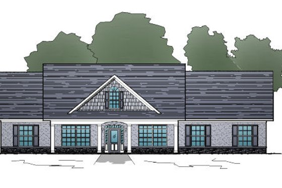 Traditional Exterior - Front Elevation Plan #123-108
