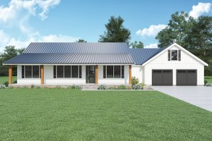 Dream House Plan - Farmhouse Exterior - Front Elevation Plan #1070-140