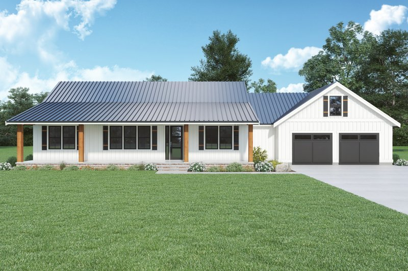 Home Plan - Farmhouse Exterior - Front Elevation Plan #1070-140