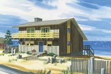 Contemporary Exterior - Front Elevation Plan #320-800
