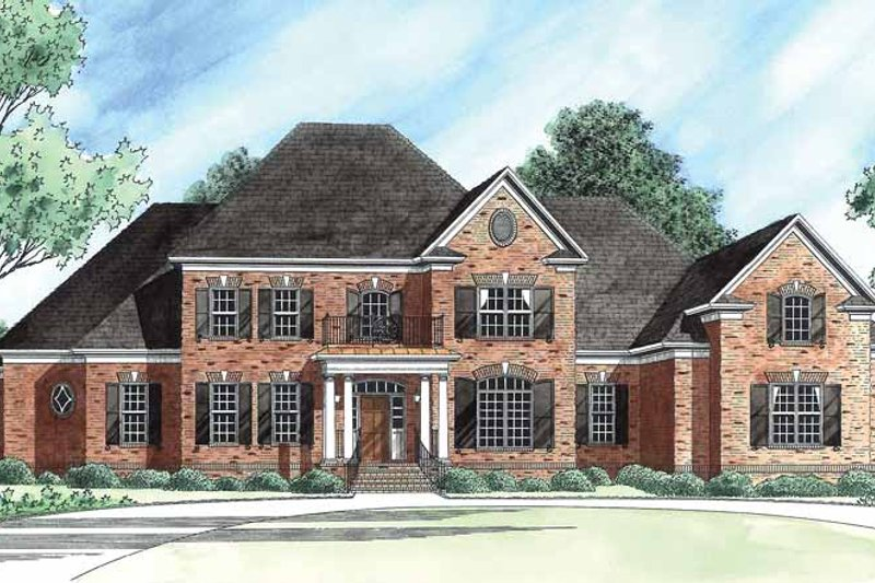 Colonial Exterior - Front Elevation Plan #1054-14