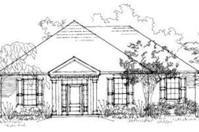 Southern Style House Plan - 3 Beds 2 Baths 1414 Sq/Ft Plan #325-148 Exterior - Front Elevation