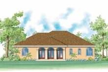 House Plan Design - Mediterranean Exterior - Rear Elevation Plan #930-420