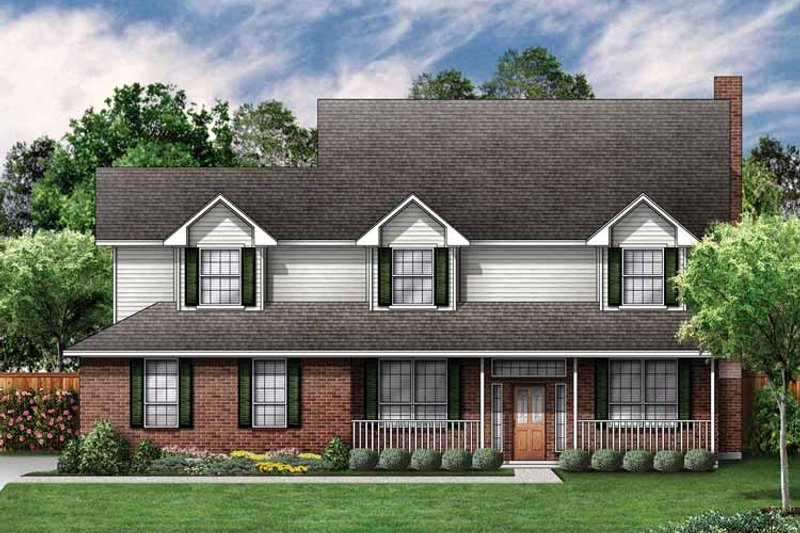 Country Exterior - Front Elevation Plan #84-699