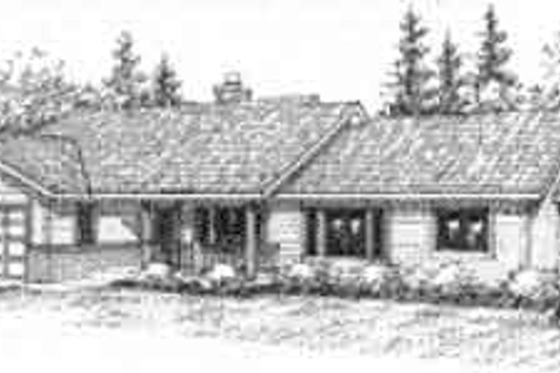 Ranch Exterior - Front Elevation Plan #117-216 - Houseplans.com