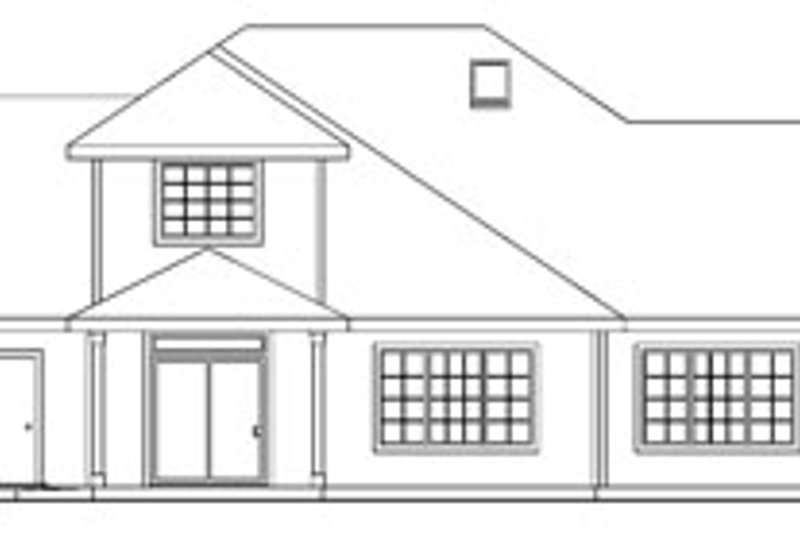 European Exterior - Rear Elevation Plan #124-742 - Houseplans.com