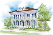 Southern Exterior - Front Elevation Plan #930-401
