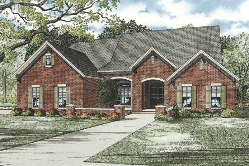 House Plan Design - Traditional Exterior - Front Elevation Plan #17-3264