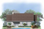 Country Style House Plan - 3 Beds 2 Baths 1399 Sq/Ft Plan #929-555 Exterior - Rear Elevation