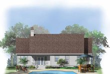 Country Exterior - Rear Elevation Plan #929-555