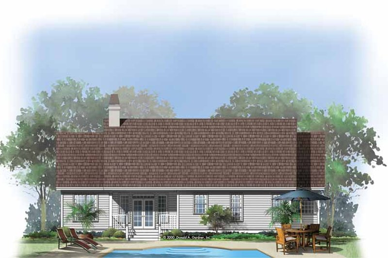Country Exterior - Rear Elevation Plan #929-555 - Houseplans.com