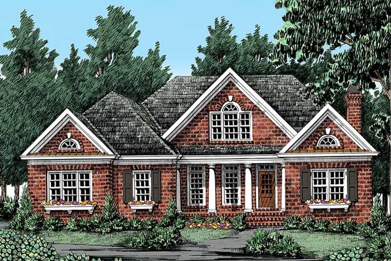 Traditional Exterior - Front Elevation Plan #927-328 - Houseplans.com