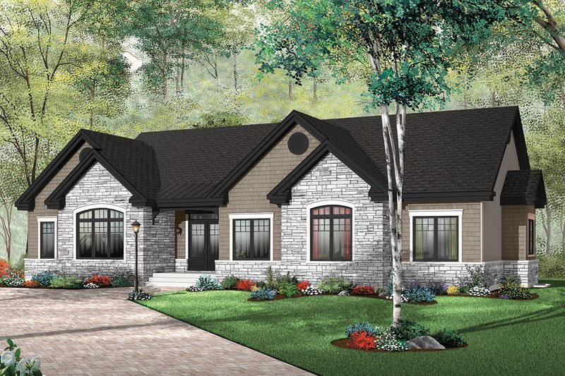 European Exterior - Front Elevation Plan #23-646