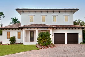 Mediterranean Exterior - Front Elevation Plan #1017-159