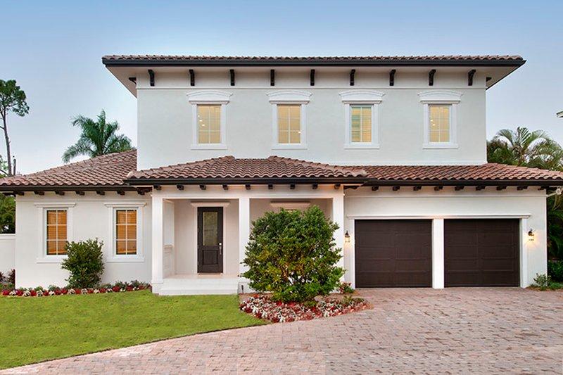 House Plan Design - Mediterranean Exterior - Front Elevation Plan #1017-159