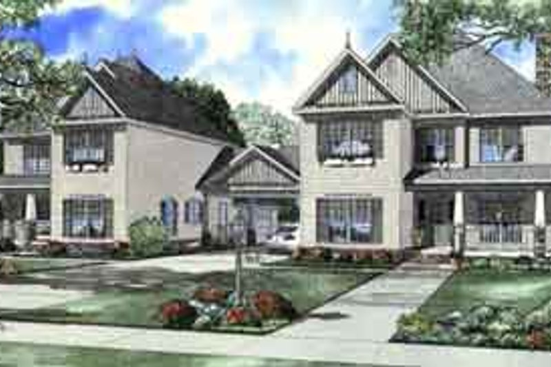 Tudor Style House Plan - 5 Beds 3.5 Baths 5032 Sq/Ft Plan #17-2158 Exterior - Front Elevation