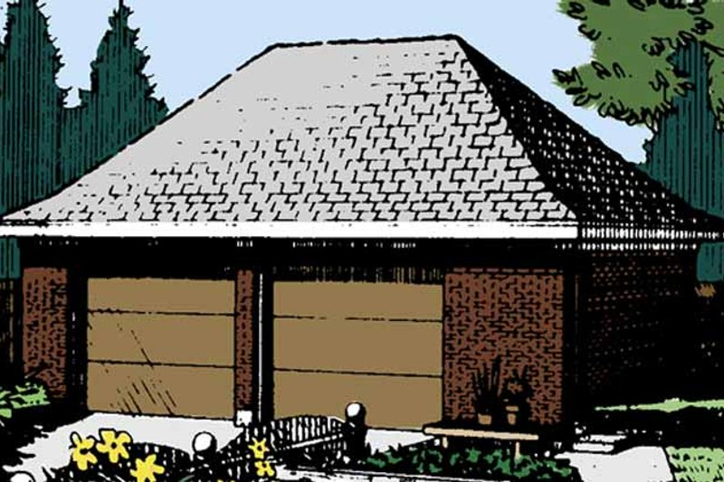 Exterior - Front Elevation Plan #410-3610