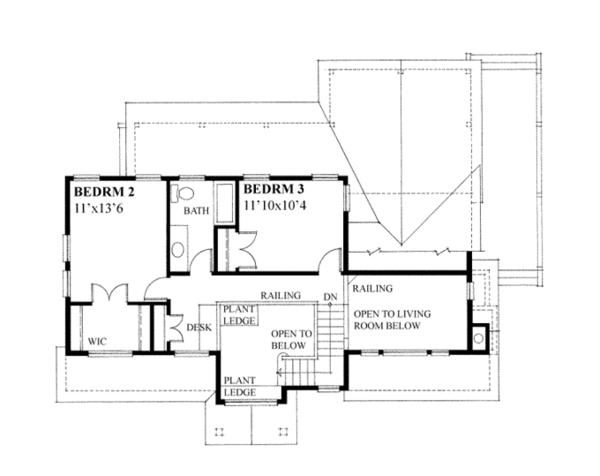 Country Floor Plan - Upper Floor Plan Plan #118-164