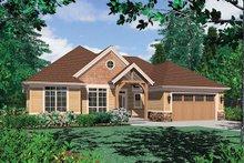 Craftsman Exterior - Front Elevation Plan #48-410