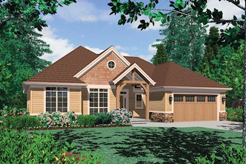 Craftsman Exterior - Front Elevation Plan #48-410
