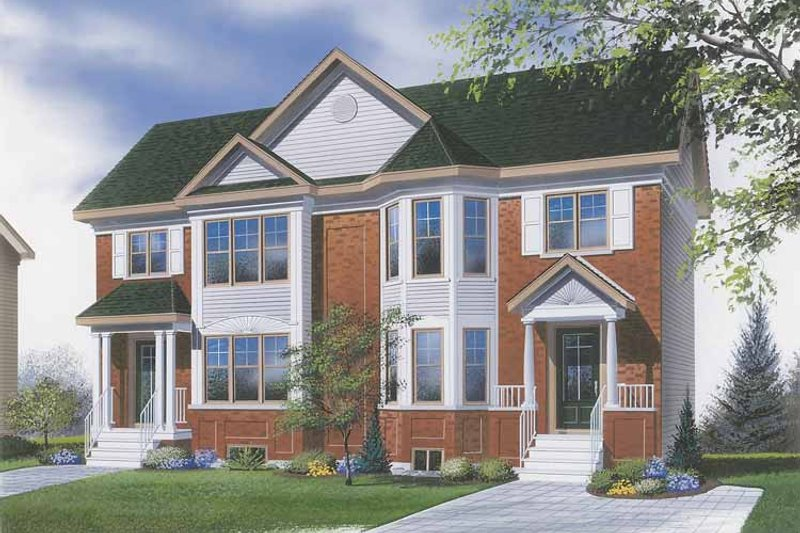European Exterior - Front Elevation Plan #23-2363