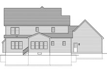Colonial Exterior - Rear Elevation Plan #1010-160