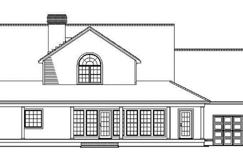 Colonial Exterior - Rear Elevation Plan #17-2936 - Houseplans.com