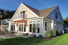 House Plan Design - Country Exterior - Rear Elevation Plan #1010-106