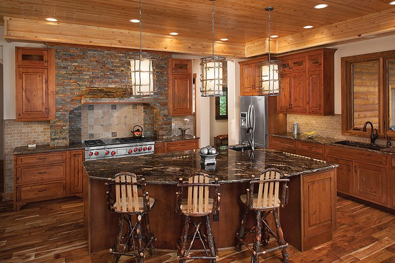 Log Interior - Kitchen Plan #928-263 - Houseplans.com