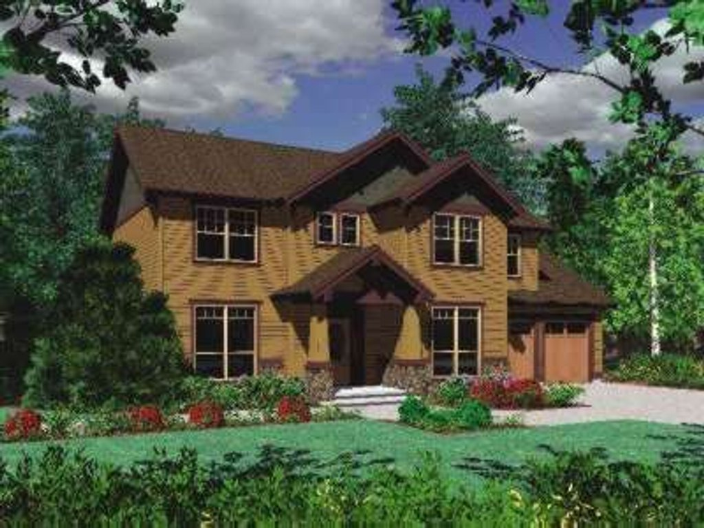 Craftsman style house plan 5 beds 2 5 baths 2000 sq ft for Craftsman vs mission style