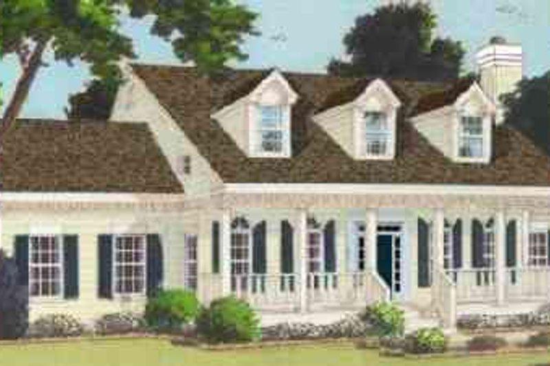 Farmhouse Exterior - Front Elevation Plan #3-195
