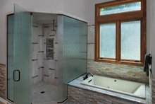 Dream House Plan - Log Interior - Master Bathroom Plan #928-263