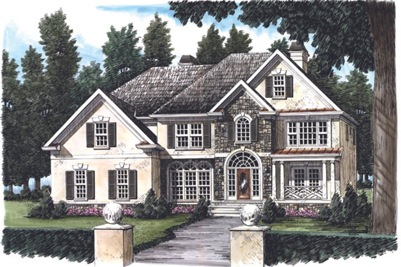 European Exterior - Front Elevation Plan #927-138