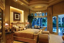 Mediterranean Interior - Master Bedroom Plan #930-327